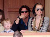 Eva Herzigova, son amoureux et son fils, de superbes supporters... aux côtés des récents papas Boris Becker et Flavio Briatore !