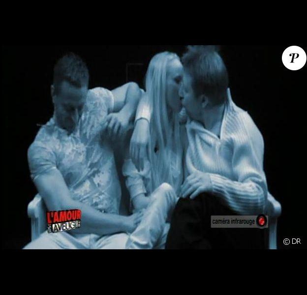Karyline, Erik et Fabien dans L'Amour est aveugle
