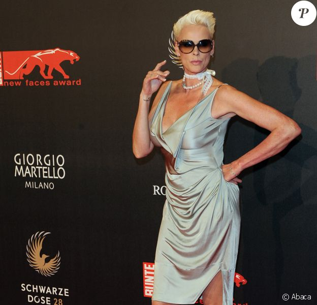 Brigitte Nielsen à la cérémonie des New Faces Award (22 avril 2010 à Berlin
