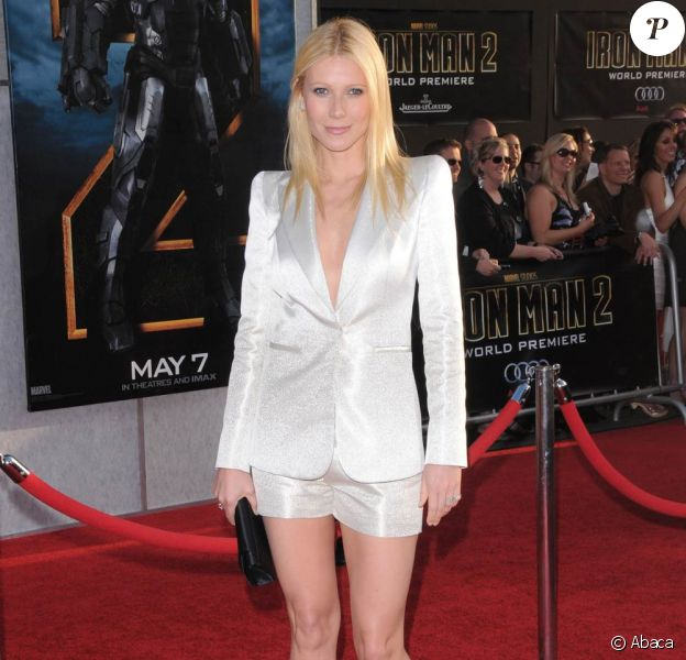 La ravissante Gwyneth Paltrow, à l'occasion de l'avant-première d'Iron Man 2, qui s'est tenue au El Capitan Theatre d'Hollywood, à Los Angeles, le 26 avril 2010.