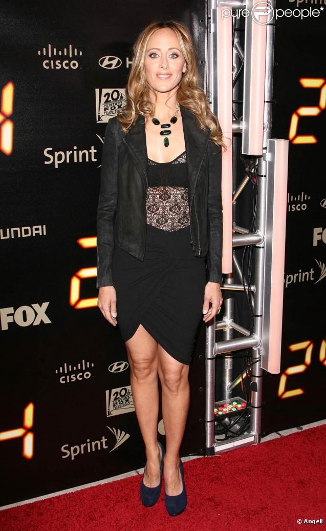 La belle Kim Raver, à l'occasion de la soirée de fin de la série  24 heures chrono , au Boulevard 3 d'Hollywood, à Los Angeles, le 30 avril 2010.