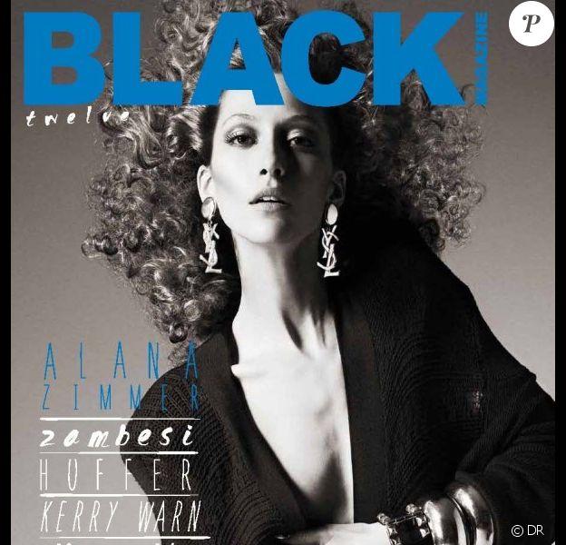 Alana Zimmer en couverture de Black Magazine