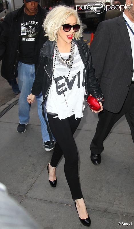 Christina Aguilera à New York, le 6 mai 2010
