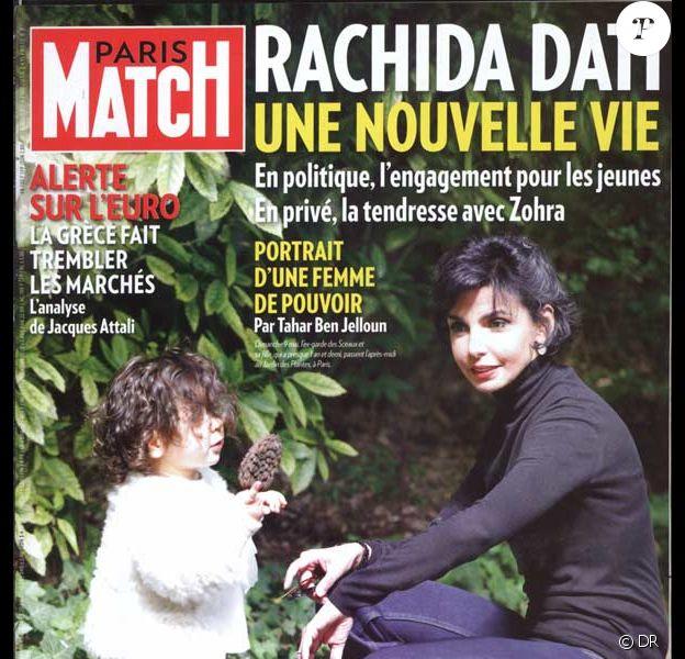 Rachida Dati en couverture de Paris Match