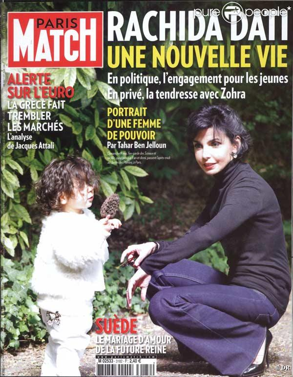 Rachida Dati en couverture de Paris Match