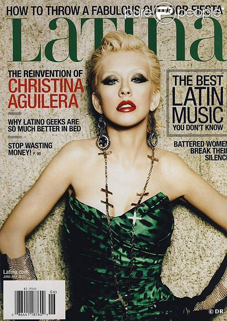 Christina Aguilera en couverture de Latina Magazine du mois de juin 2010