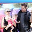 Gwen Stefani et ses enfants lors d'un goûter d'anniversaire dans un parc à Los Angeles.