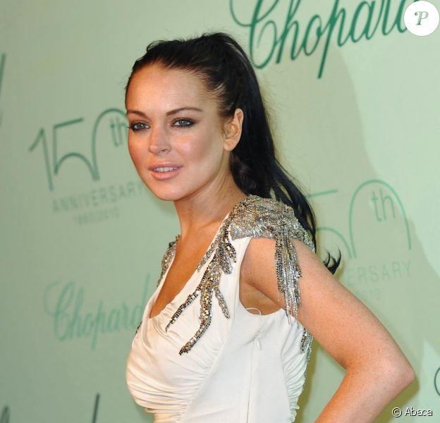Lindsay Lohan à la soirée Chopard le 17 mai 2010