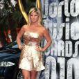 Tapis rouge de la cérémonie des World Music Awards à Monaco le 18 mai 2010 : Rachel Hunter !