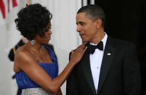 Quand Michelle Obama scintille devant son mari Barack et leurs invités conquis !