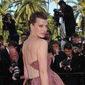Cannes 2010 - Milla Jovovich : La comédienne est redevenue un super top model... pour illuminer le tapis rouge !