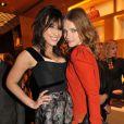 Daisy Lowe et Natalia Vodianova à l'ouverture de la nouvelle boutique Louis Vuitton à Londres le 25 mai 2010