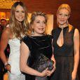 Elle Macpherson, Catherine Deneuve et Gwyneth Paltrow à l'ouverture de la nouvelle boutique Louis Vuitton à Londres le 25 mai 2010