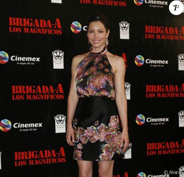 La belle Jessica Biel, à l'occasion de l'avant-première de L'agence tous risques, qui s'est tenue à Mexico City, au Mexique, le 31 août 2010.