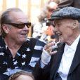 Jack Nicholson et Dennis Hopper en mars 2010 lorsque Dennis reçoit son étoile sur le boulevard de la gloire