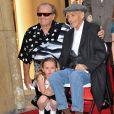Jack Nicholson, Dennis Hopper et sa fille Galen quand Dennis reçoit son étoile en mars 2010