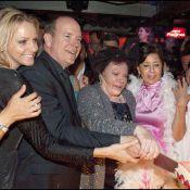 Régine entourée du prince Albert et de sa douce Charlene pour un double-anniversaire !