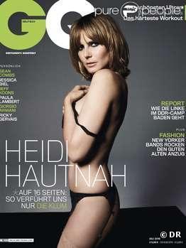 Heidi Klum en couverture de GQ Allemagne du mois de juillet 2010