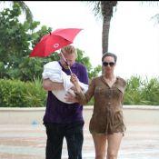 Boris Becker, son épouse Lilly, leur petit Amadeus et l'adorable Elias, surpris par un terrible orage !