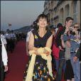 Sophie Marceau à son arrivée au festival de Cabourg
