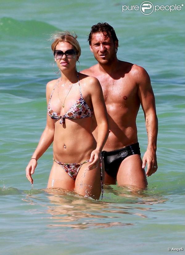 Francesco Totti en vacances à Miami avec sa femme Ilary Blasi