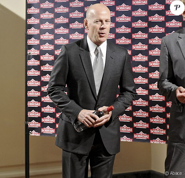 Bruce Willis fait la promotion de la vodka Sobieski à Madrid le 21 juin 2010