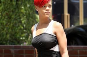 Rihanna : En célibataire dans un supermarché... elle peut toujours compter sur des bras musclés !
