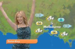 Kylie Minogue s'est trouvé un nouveau job : Miss météo !