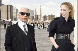 Mode : Karl Largerfeld et Raquel Zimmermann en plein shooting à New York