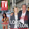 Lorie et Alain Delon en couverture de TVMag