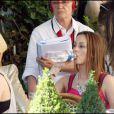 Leighton Meester et Blake Lively sur le tournage de Gossip Girl à Paris, le 8 juillet 2010