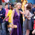 Kelly Rutherford sur le tournage de Gossip Girl, le 15 juillet 2010 à New York