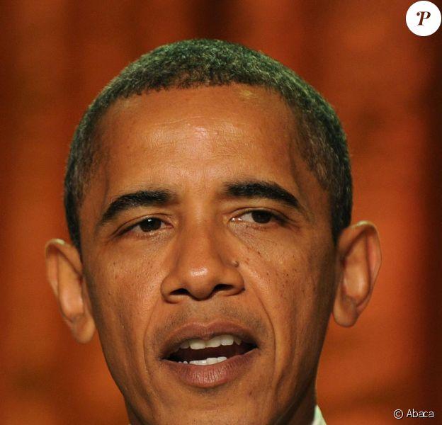 Barack Obama lors du concert de Elaine Stritch à la Maison Blanche le 19/07/10