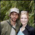 Natacha Régnier et son compagnon Guillaume Bounaud à Roland-Garros en 2010