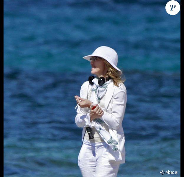 Madonna en plein tournage de W.E, à Cannes, le 29 juillet 2010