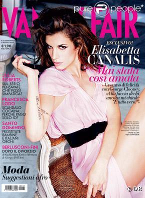 Elisabetta Canalis en couverture du Vanity Fair italien