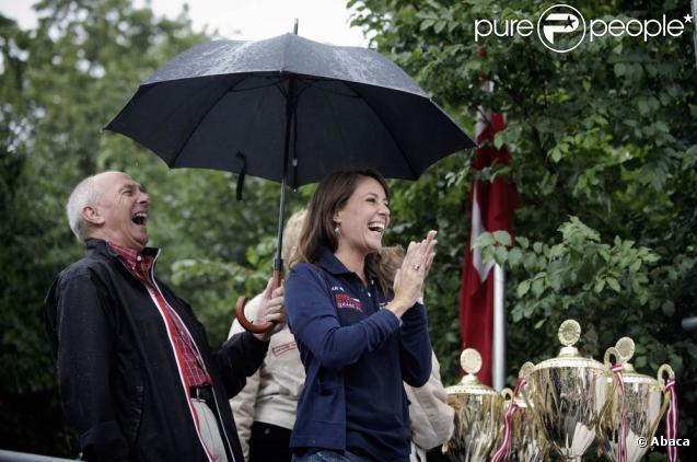 La princesse Marie et le prince Joachim lors du Grand Prix historique de Copenhague, le 8 août 2010.