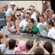 Elton John et David Furnish à Saint-Tropez, le 11 août 2010