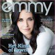 Courteney Cox en couverture de Emmy Magazine