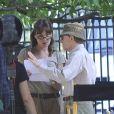 Carla Bruni en tournage avec Woody Allen, juillet 2010