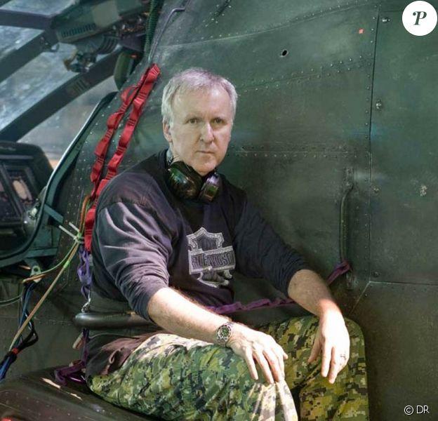 James Cameron, sur le tournage d'Avatar.