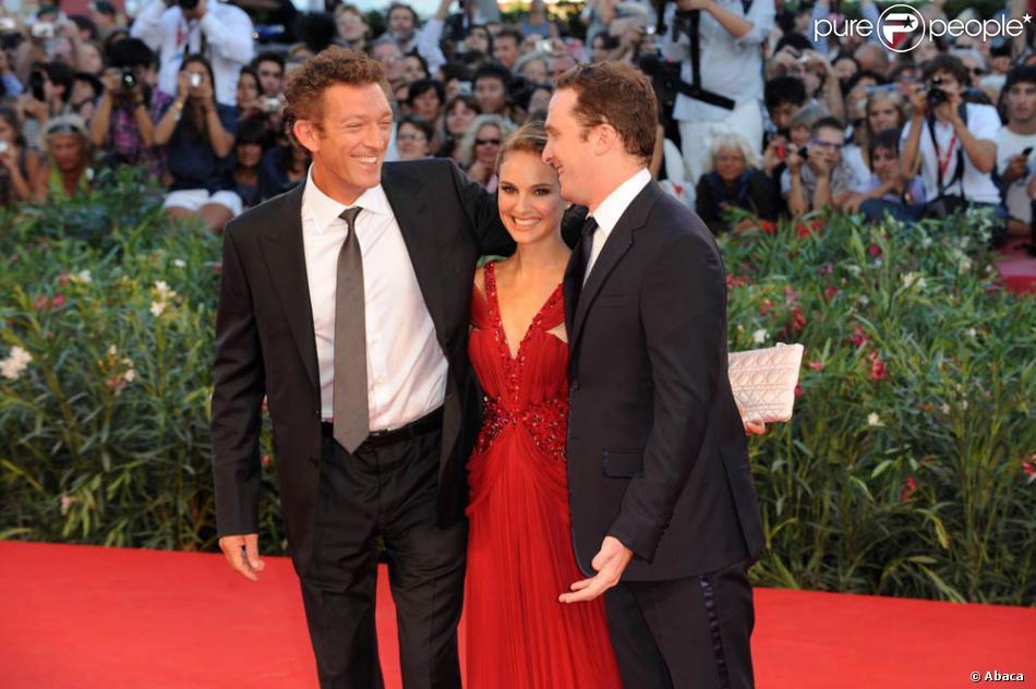 Vincent Cassel, Natalie Portman et Darren Aronofsky, à l ...