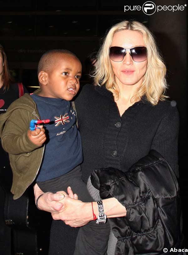 Madonna et son fils David