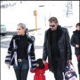 Laetitia et Johnny Hallyday avec leur fille Jade