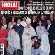 Louis et Alphonse, les jumeaux de Louis de Bourbon et sa femme Maria Margarita, ont, en septembre 2010, une nouvelle fois les honneurs de  Hola!  à l'occasion de leur baptême au Vatican.