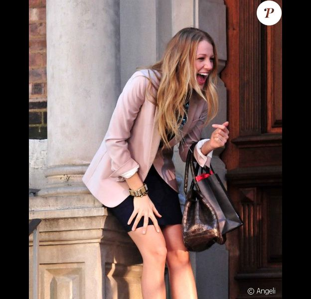 Blake Lively sur le tournage de Gossip Girl à New York, le 8 septembre 2010