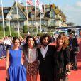 Elodie Bouchez, la réalisatrice Zeina Durra, l'acteur Karim Saleh et l'actrice Marianna Kulukundis au festival de Deauville pour la présentation du film The Imperialists are Still Alive le 9 septembre 2010