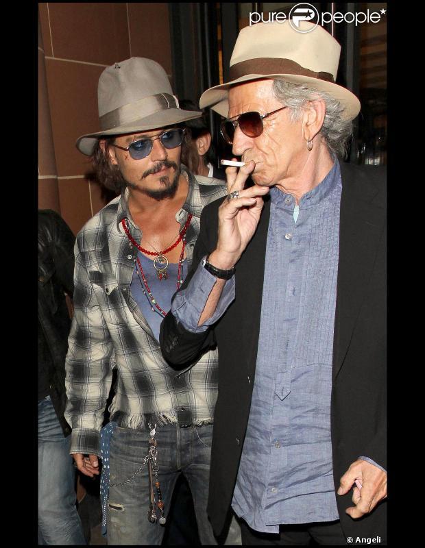 Johnny Depp et Keith R...