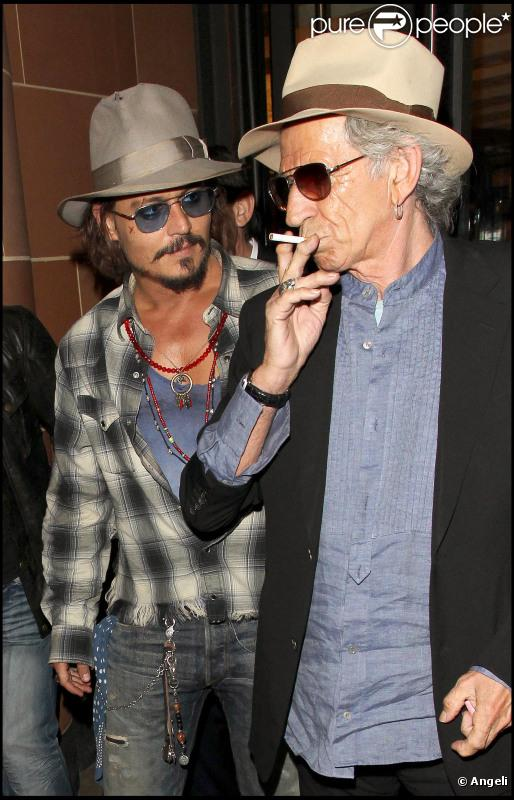 Johnny Depp et Keith Richards : Deux pirates qui se ...