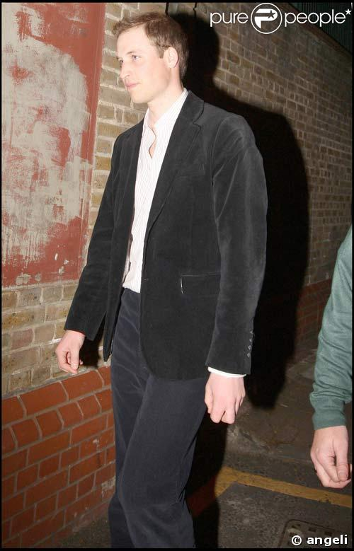 Le Prince William en direction du Mahiki, le club de Londres